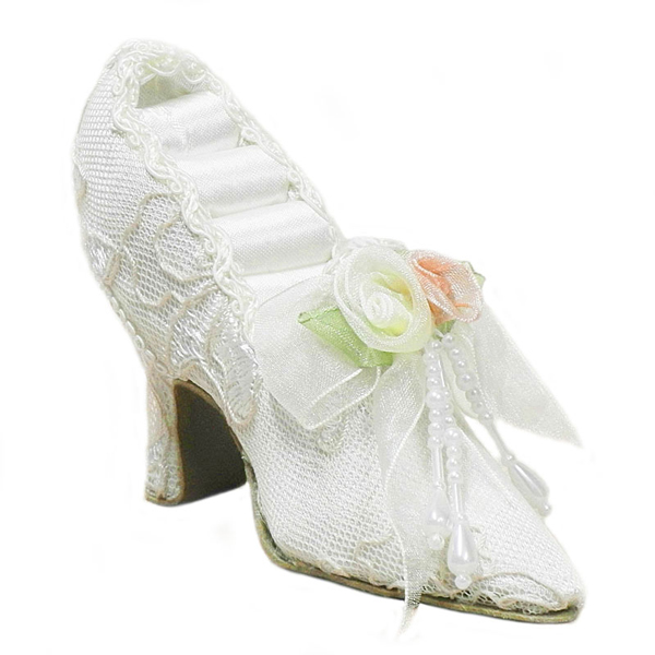 Accessories - Wedding Ring Holder - Victorian Shoe - Ivory
