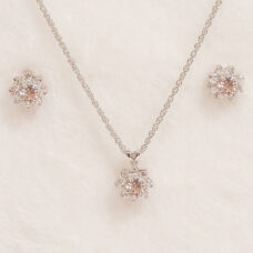 Tiffany Floral Light Rose Jewel Set