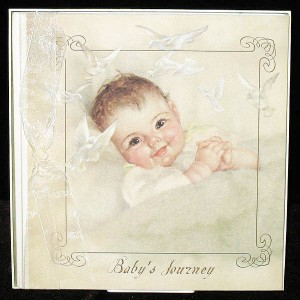 Pick Me Up Terra Traditions Baby Record Book for Girls