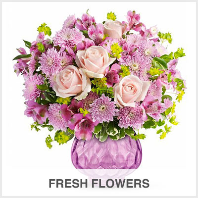 Fresh Flowers Gourmet Gift Basket Store