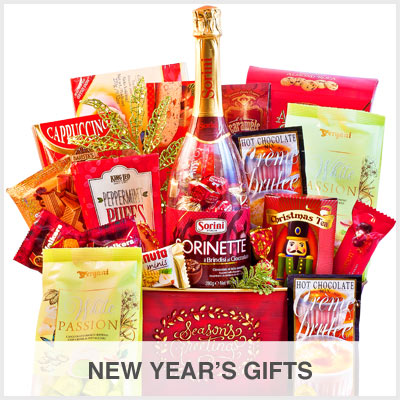New years gift baskets, New Year's
