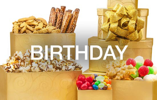 Wish them the Happiest Birthday, celebrate their Birthday with a gourmet gifts, chocolate treats, cheese gift baskets.