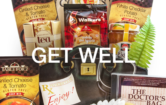 Get Well Soon Gift Baskets - Gourmet Gift Basket Store - recovery gifts, designed with body and soul healing gourmet foods and snacks.