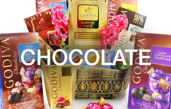 Valentine's Day Chocolates Gift Baskets and Gift Towers, Godiva, Swiss, Guylian, Ferrero Rocher, Toblerone, Frazer Liquor Chocolates and More!