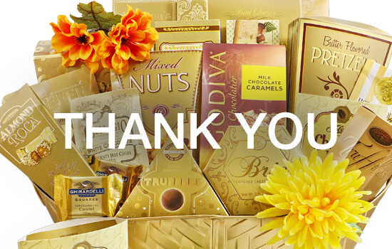 Thank You Gift Baskets - Gourmet Gift Basket Store, Corporate/Office gift baskets, Client Appreciation gifts, show how much you appreciate the help.