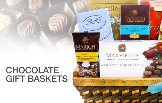 Chocolates Gift Basket - Gourmet Gift Basket Store