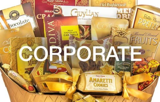 Send your corporate Thank You with a gourmet gift basket filled with chocolate treats, cheese, crackers, gourmet foods they can share with employees.