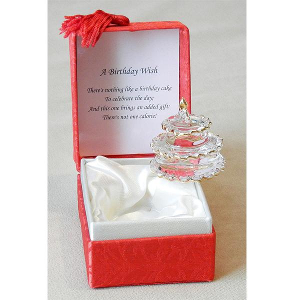 Birthday Presents - Glass Cake in Gift Box