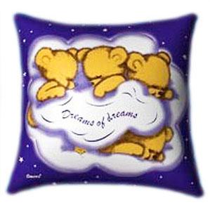 Dreams of Dreams 3 Teddies Glow In The Dark Pillow