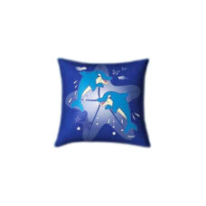 Dolphin Paradise Glow In The Dark Pillow
