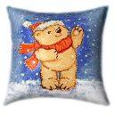 Santa Teddy Glow In The Dark Pillow