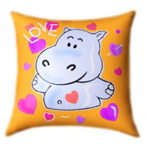 Hippo in Love Glow In The Dark Pillow
