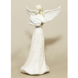 Angel Holding Baby Boy Figurine