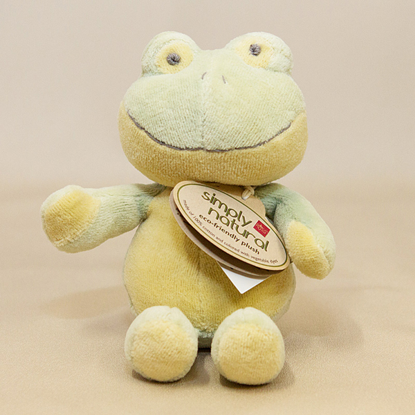 Green Plush Frog - Simply Natural