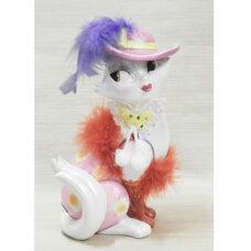 Fashionista Feline Figurine Bank