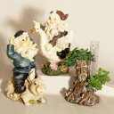 Fig Gnome Garden Statue 3 Piece Set