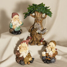 Fig Gnome Garden Statue 4 Piece Set