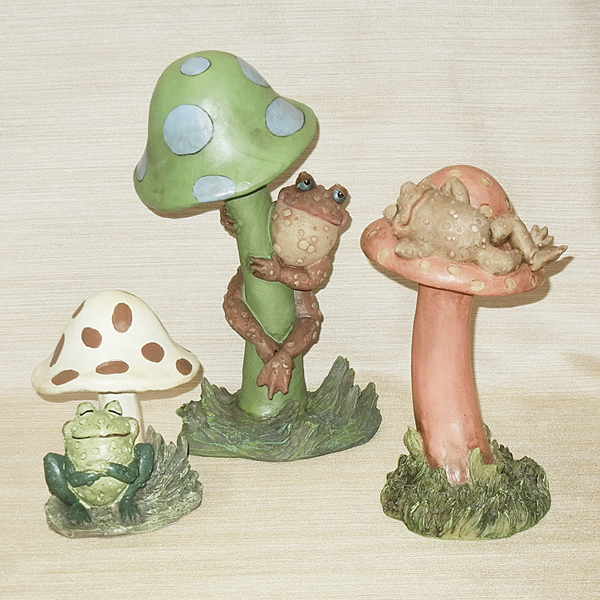 Toad Stool Stake Set Sculpture