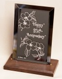 25th anniversary plaque