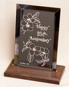 25th anniversary plaque
