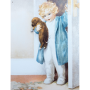 Child With Puppy Vintage steel Sign