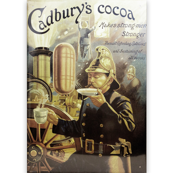 Cadbury's Cocoa Vintage British Advertising Tin Sign