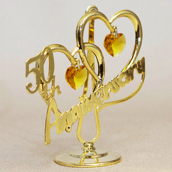 50th Anniversary Gold/Chrystal Sun catcher