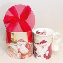 Christmas Mug - Santa visiting a child - Gift Boxed