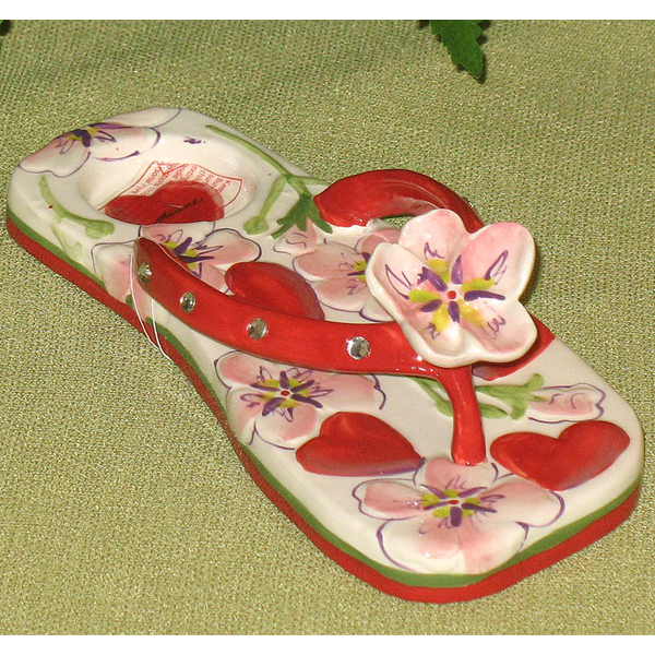 Hearts and Flowers Candle Holder Slippers