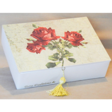 Red Roses Terra Traditions Keepsake Box