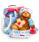 Plush Doctor's Kit with Bear Patient
