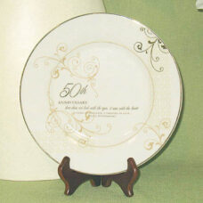 50th Anniversary Plate with Stand