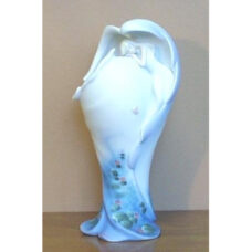 Angel with Pond Scene Vase