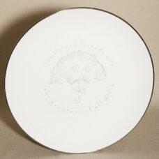 White Wedding Keepsake Showers Plate