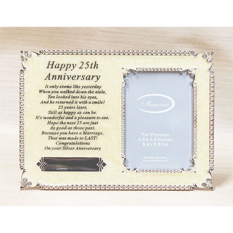 Happy 25th Anniversary Pearl Epoxy Frame