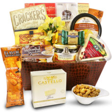 Cheese Lovers Favorite - Fine English cheese basket