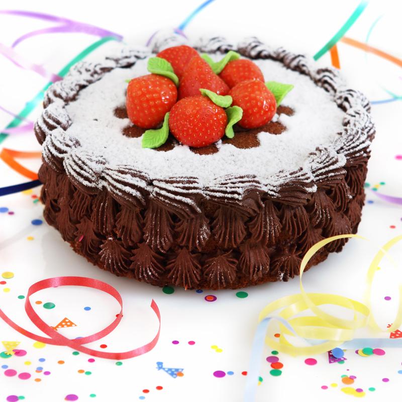 Chocolate Cream and Strawberries Fun Celebration Cake | Gourmet Gift ...