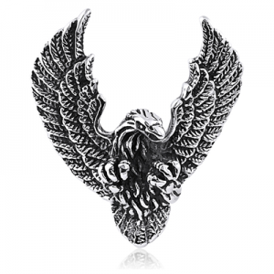 Eagle Pendant - Stainless Steel- with Rolo Chain