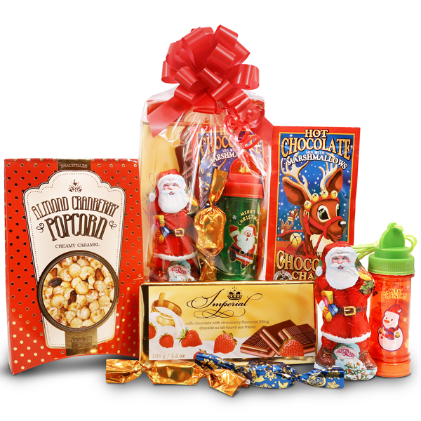 Santa Claus package for children with Glowing bubbles
