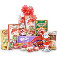Santa Claus package for children with Flashing reindeer nose