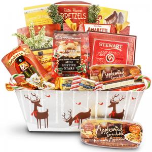 Reindeer Delivery Gift Basket