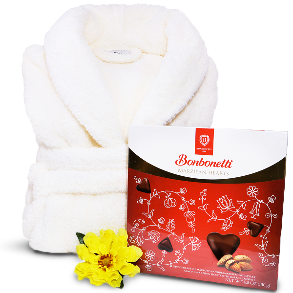 Super Soft Spa Robe - Gourmet Chocolates Luxury Gift Set