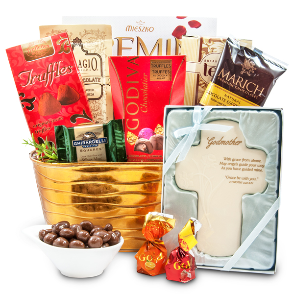 Godmother Gift Basket With Cross