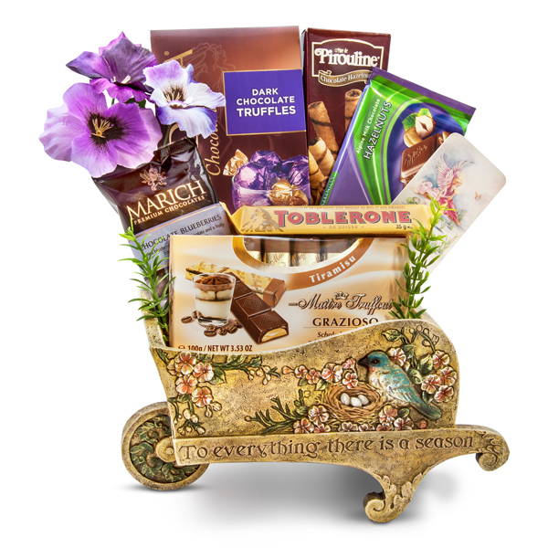 Enchanting Garden Wheelbarrow Premium Chocolate Gift