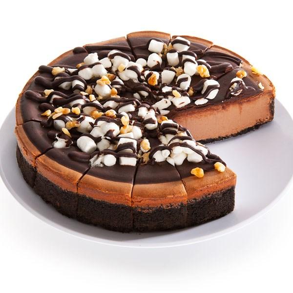 Gooey Rocky Road Cheesecake