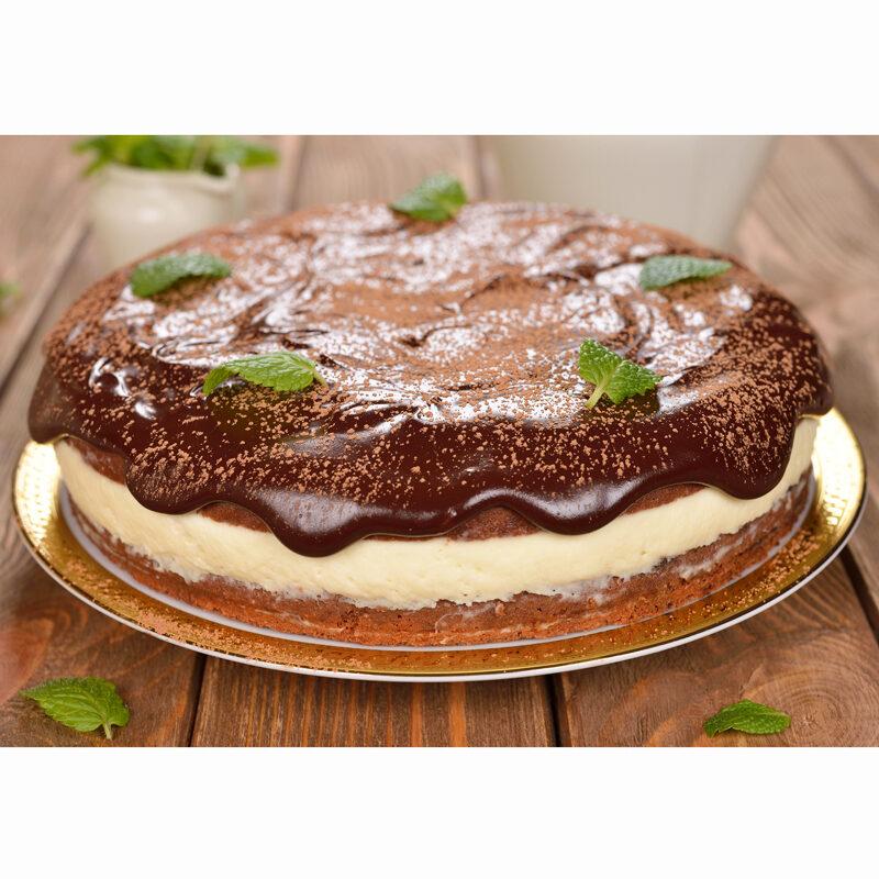 Chocolate Custard Satin Cake