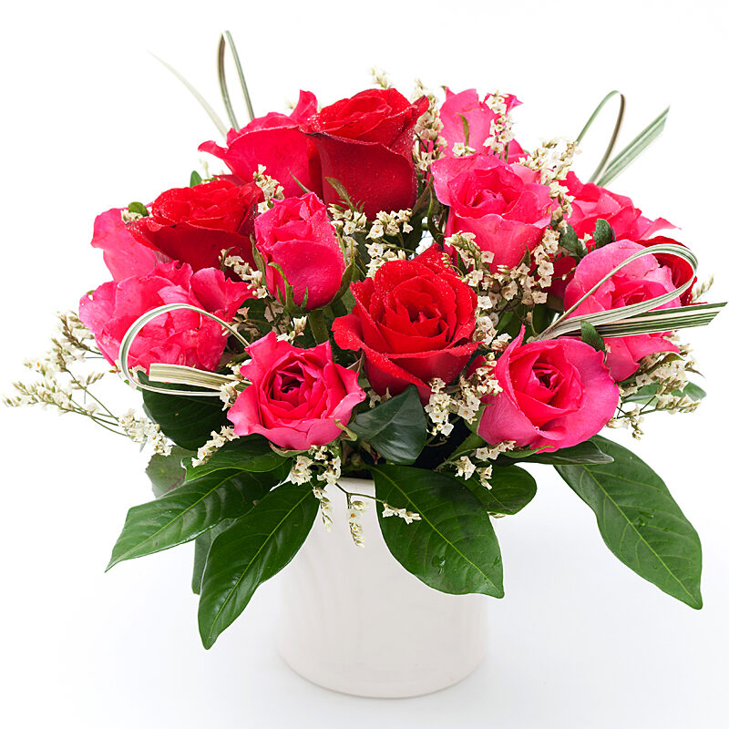 Pink Rosy Charm Bouquet - New Baby Flowers Toronto