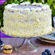 Blueberry Coconut Layer Cake