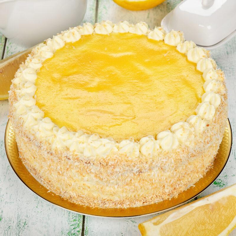Lemon Infused Layer Cake - Lemon Glazed 8 inch
