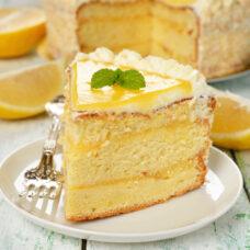 Lemon Infused Biscotti Cheesecake - 9 Inch